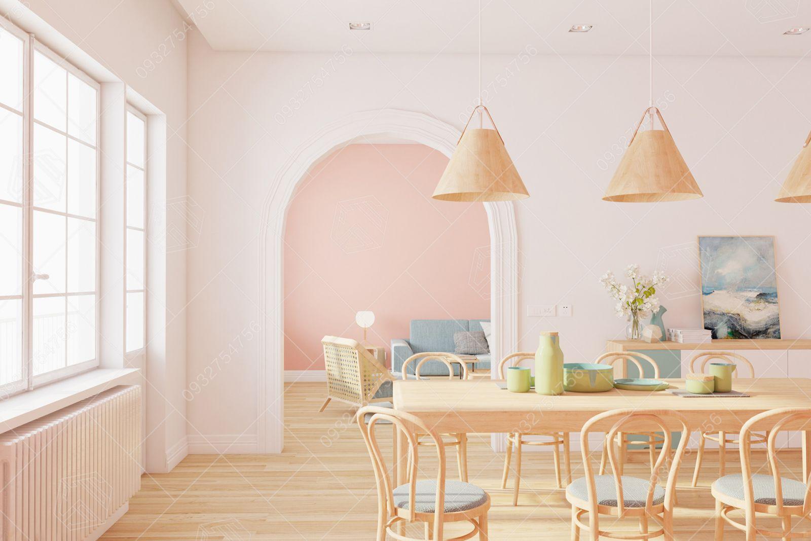 thiết kế thi công pink house