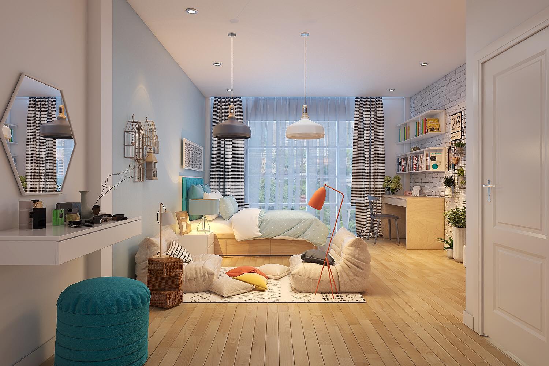 thiết kế thi công căn hộ anh chung