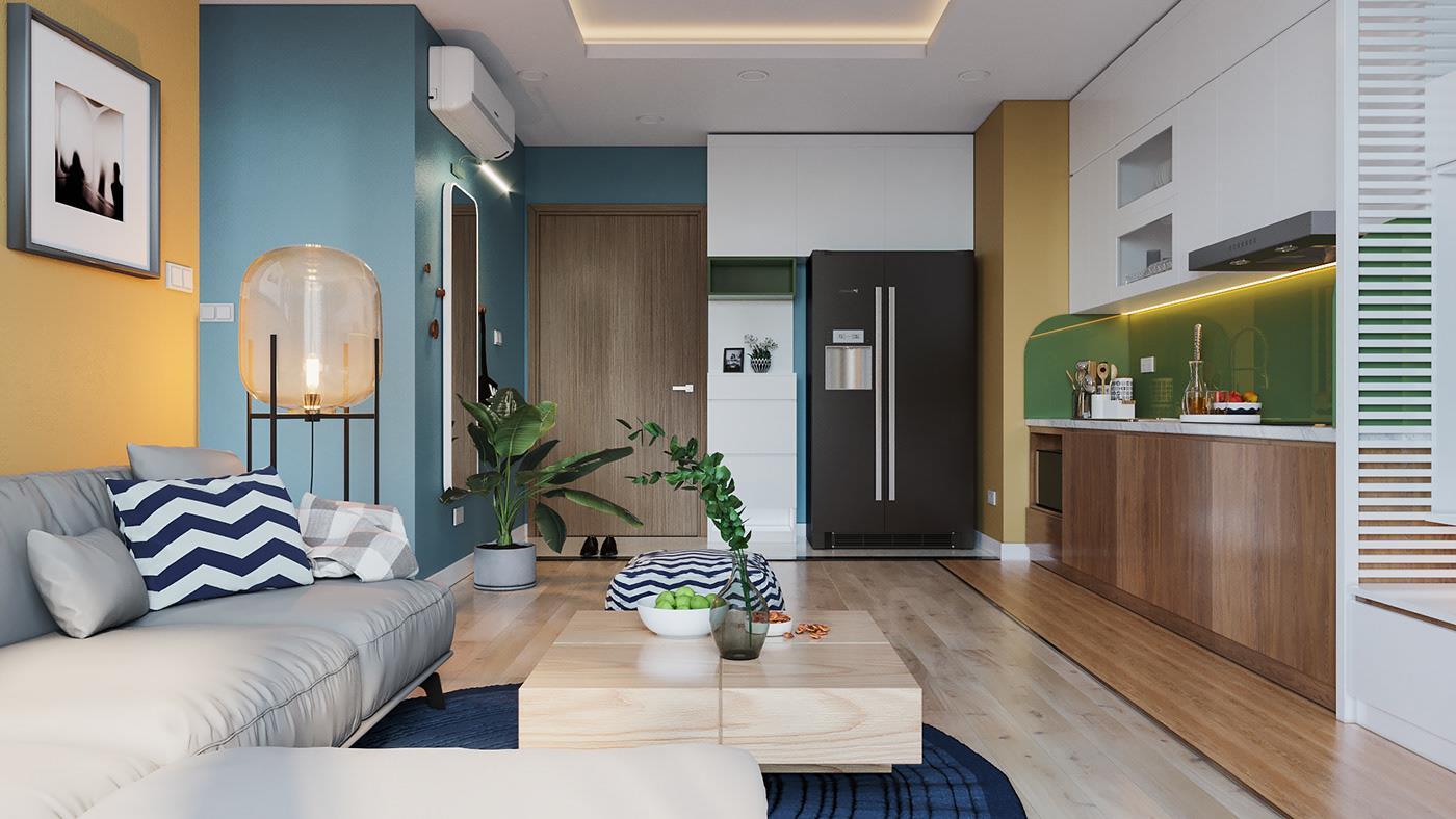 thiết kế thi công căn hộ nova land phú nhuận