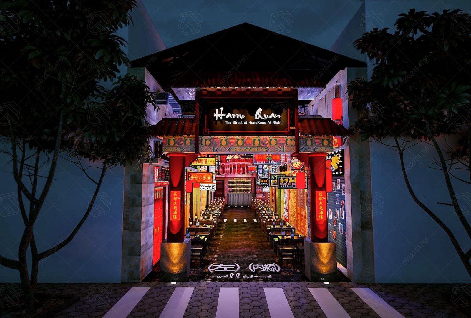 Thiết kế nhà hàng Harru Quan