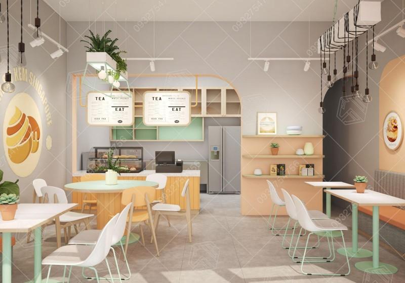 Hình ảnh thiết kế quán trà sữa Javo tại Phú nhuận, tp Hồ Chí Minh.