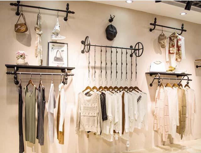 giá treo trang trí shop quần áo