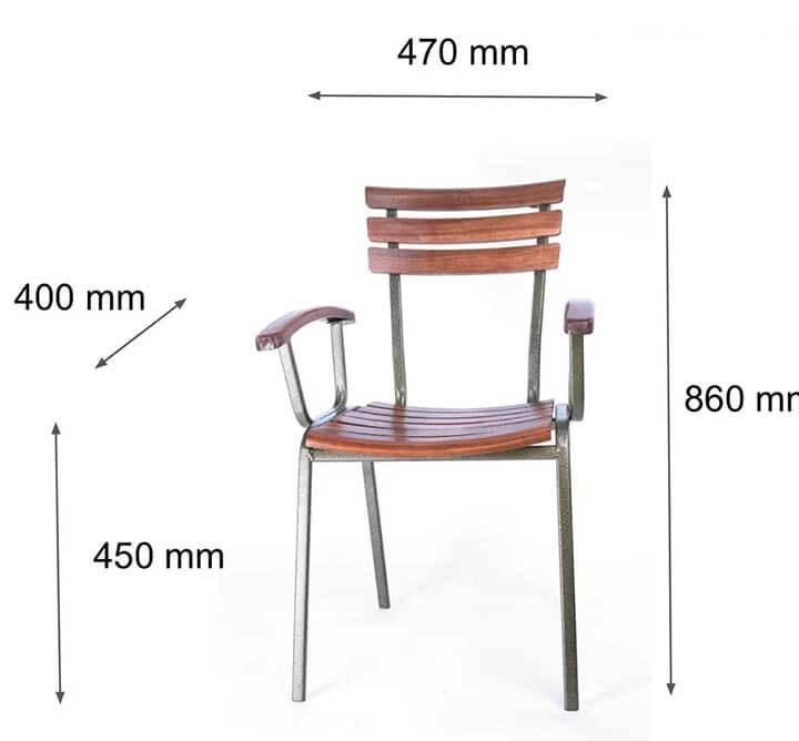 kích thước bàn cafe