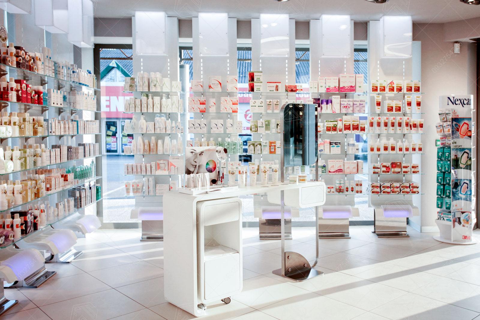 thiết kế quầy mỹ phẩm ở trung tâm thương mại