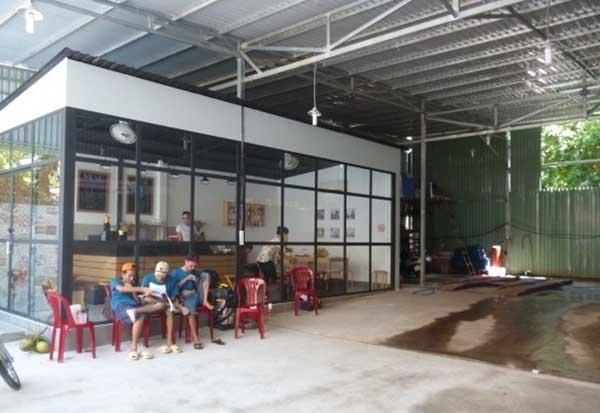 Mô hình quán cafe rửa xe