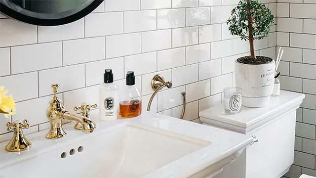 phòng tắm theo phong cách vintage