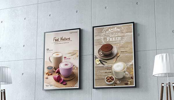 Poster quảng cáo quán cafe