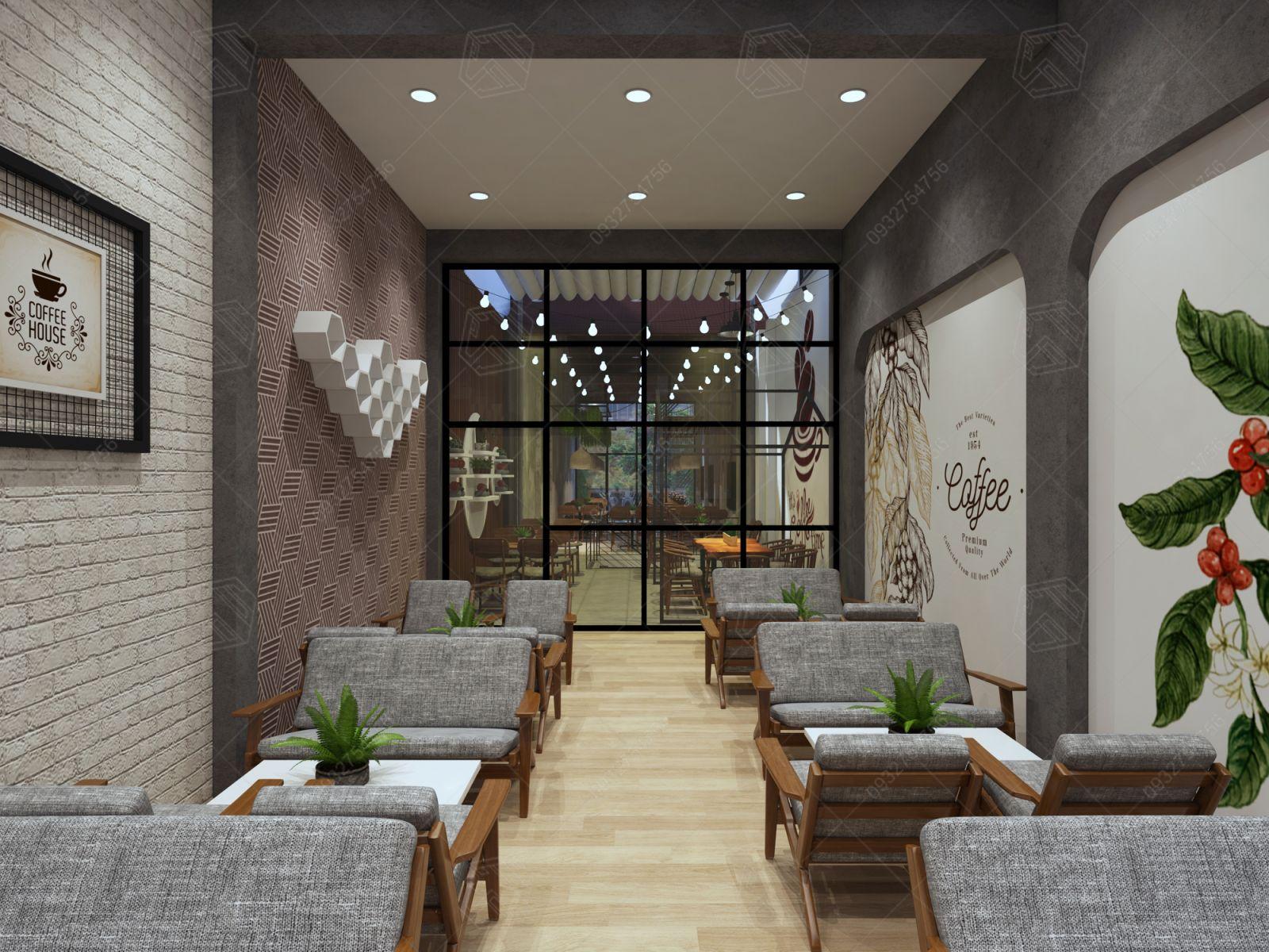 thiết kế quán cà phê long xuyên an giang
