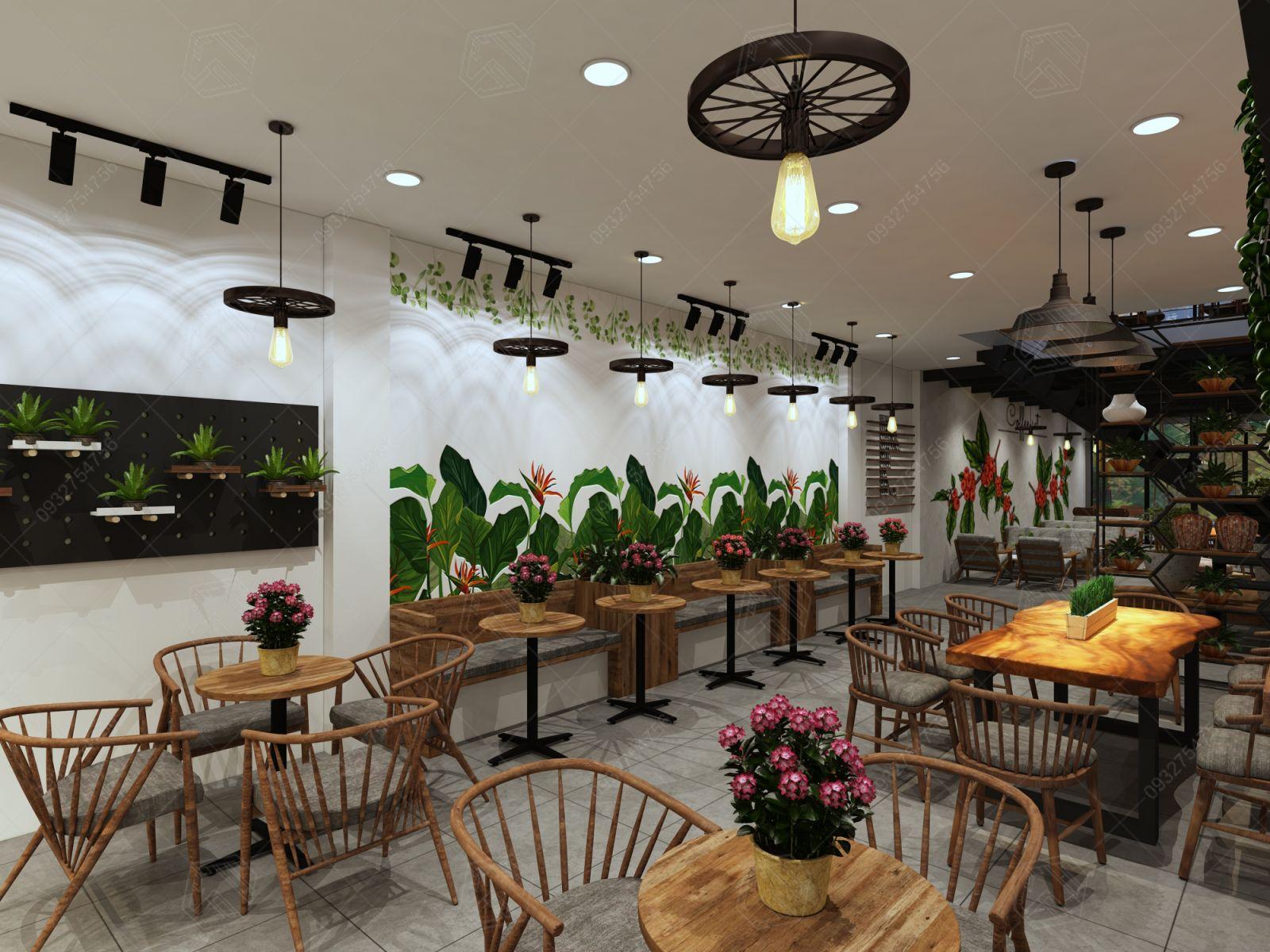 thiết kế quán cà phê long xuyên