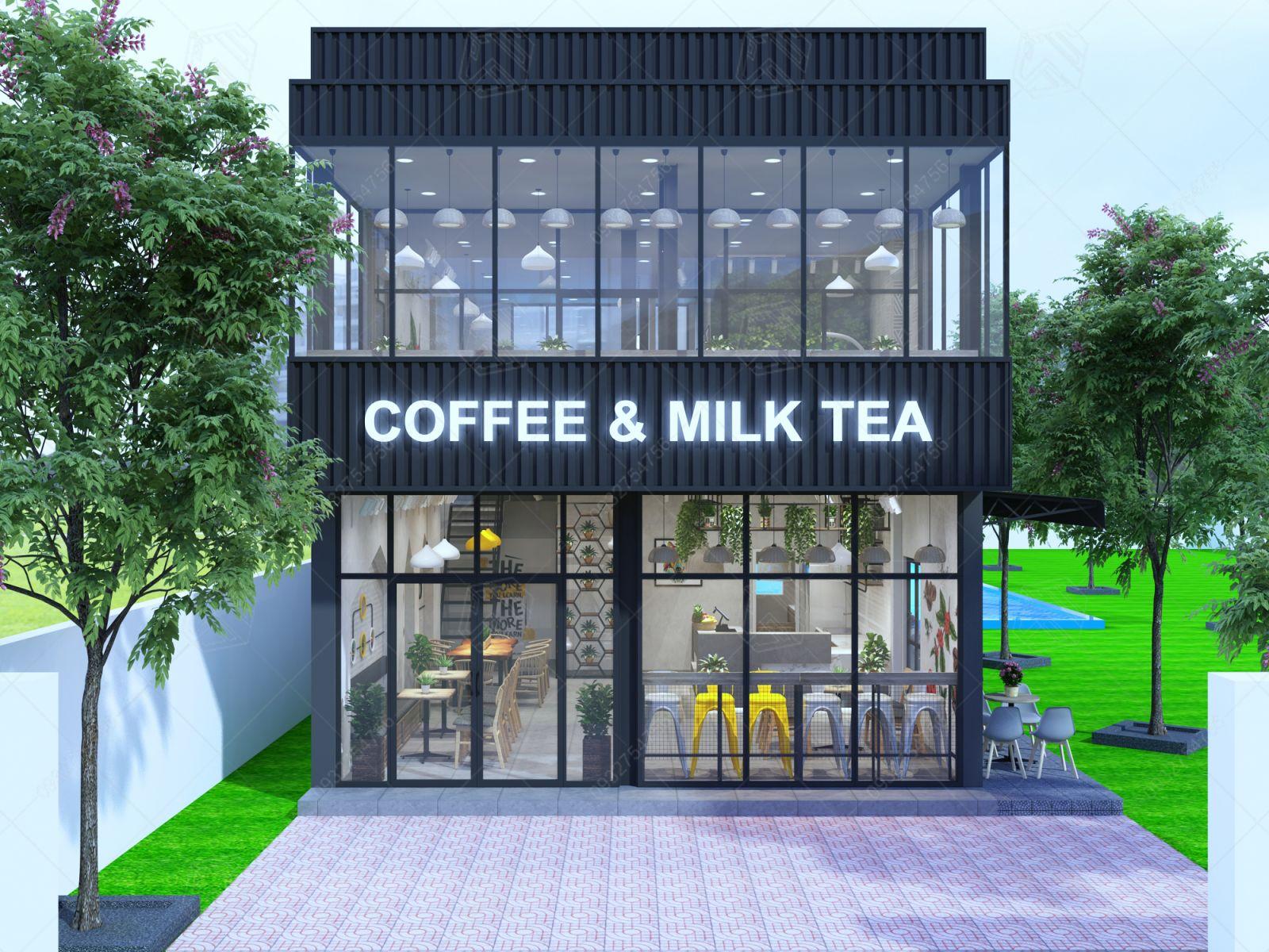 thiết kế quán ca phê nhơn trạch