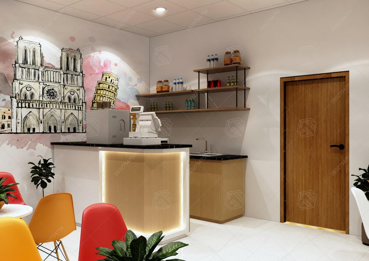 thiết kế quán trà sửa lagi