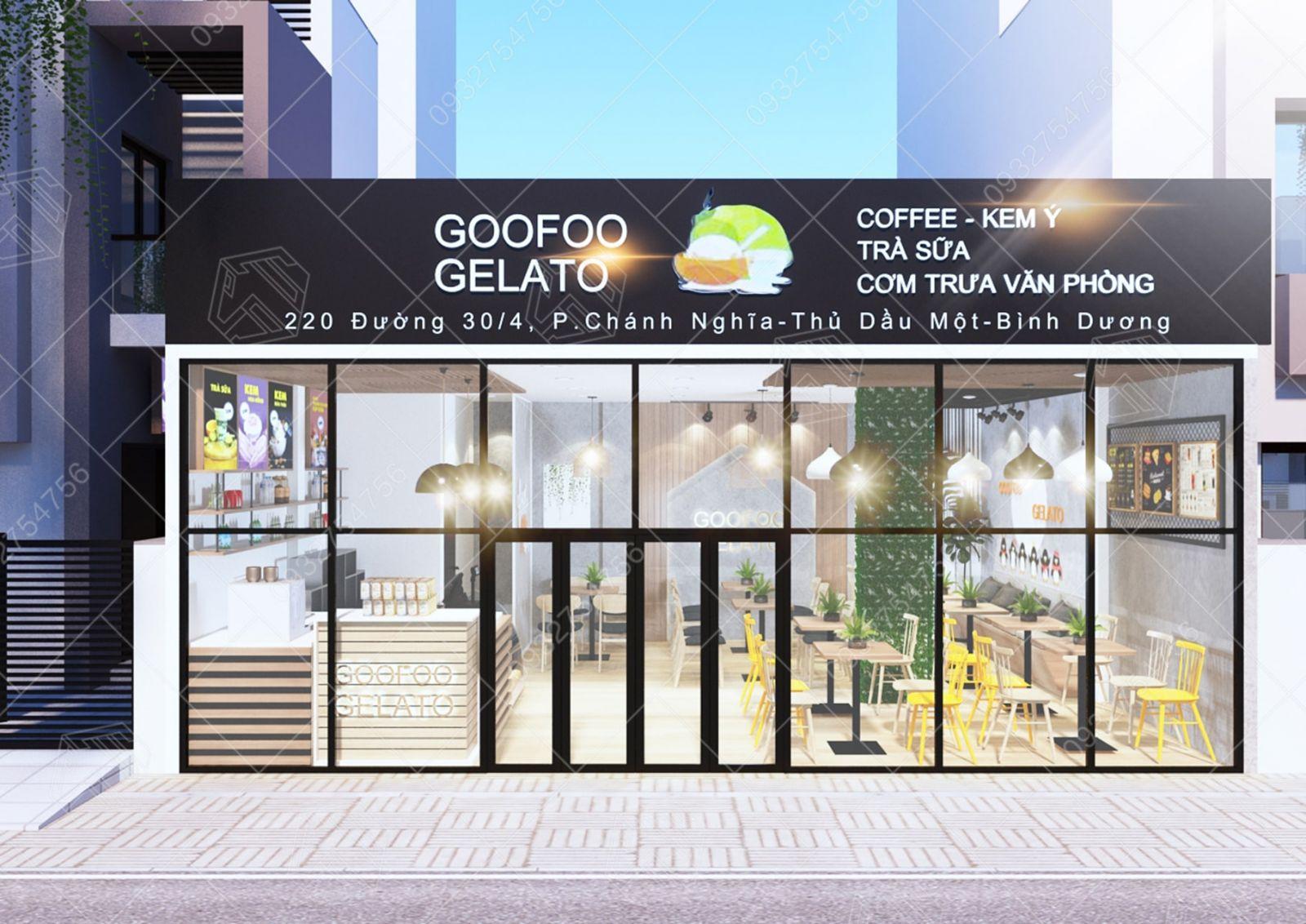 quán trà sữa - kem goofoo gelator