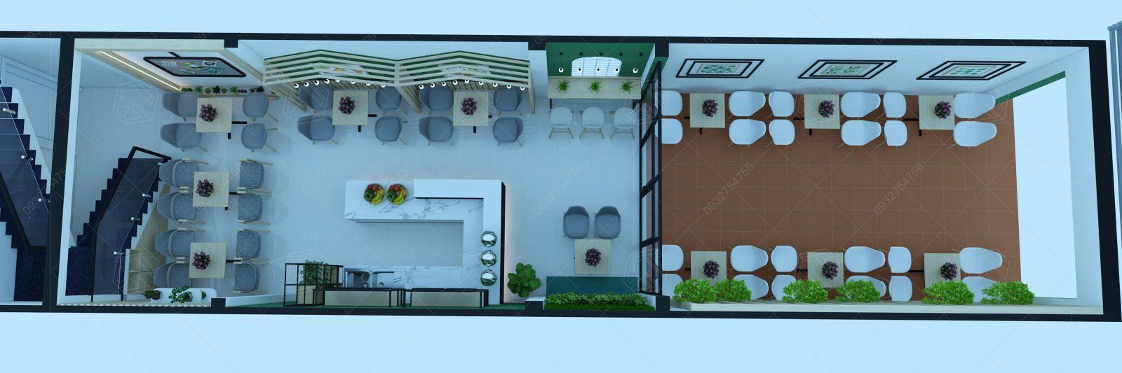 thiết kế quán trà sữa tây ninh
