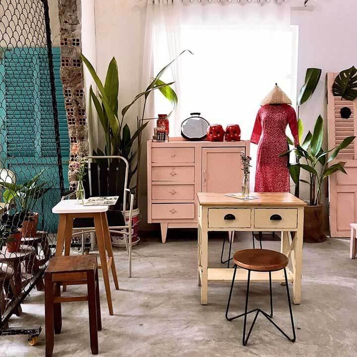 Thiết kế quán cà phê không gian xưa ở tphcm