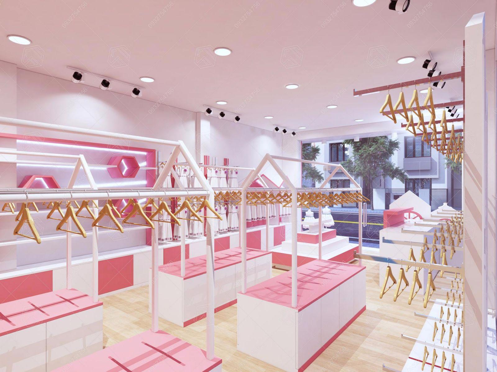 mẫu thiết kế shop thời trang KimBaby