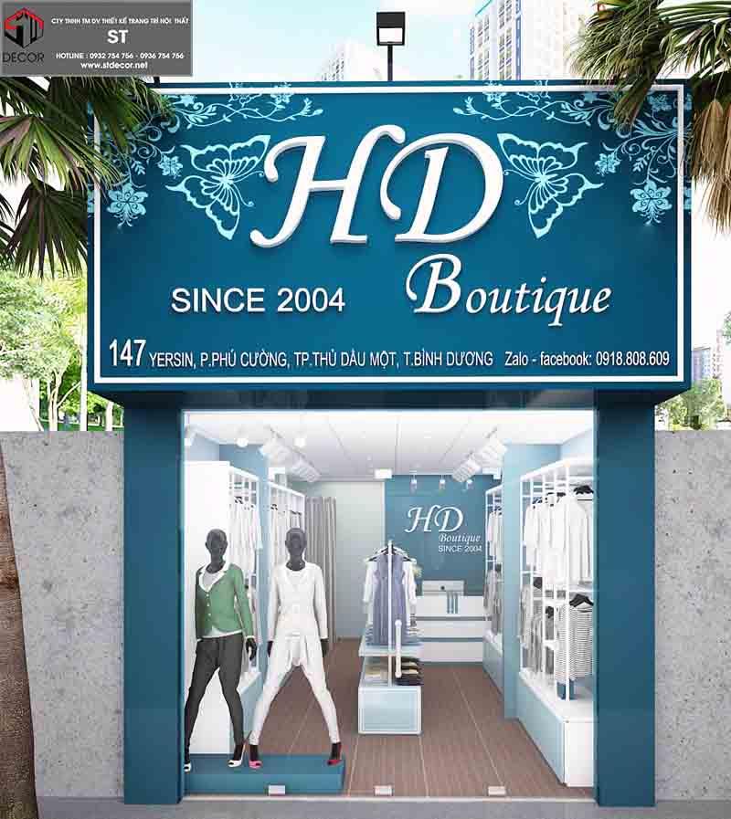 thiết kế biển hiệu shop thời trang