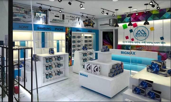 Thiết kế cửa hàng di động điện thoại