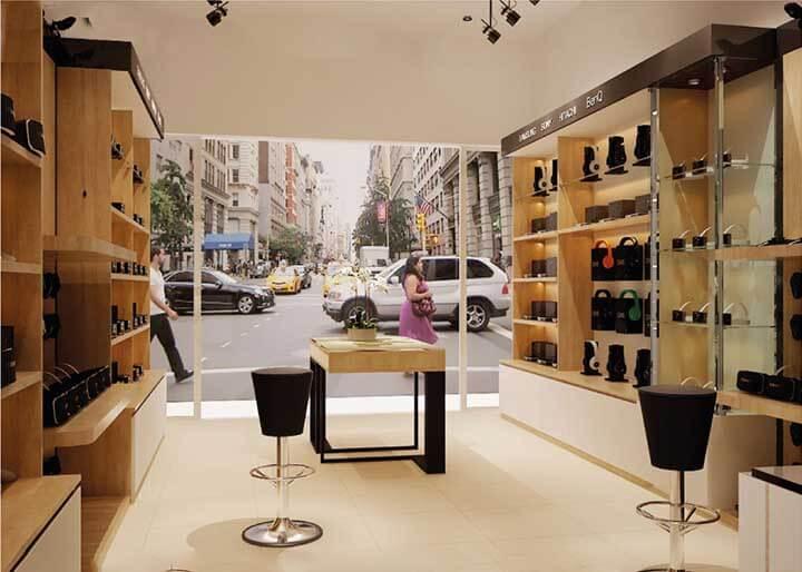 Thiết kế cửa hàng phụ kiện điện thoại di động