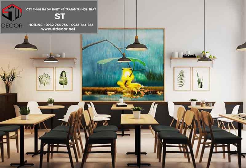 thiết kế quán cafe mặt tiền 4m