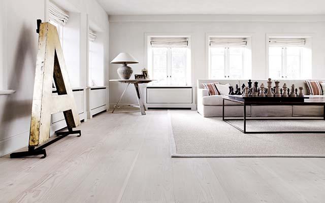 thiết kế nội thất sàn gỗ sáng