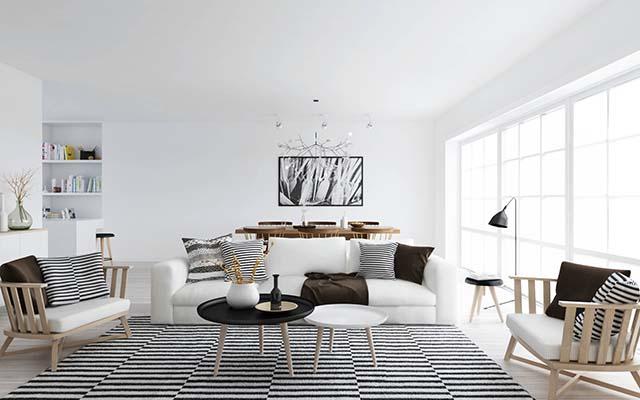 thiết kế nội thất phòng khách bắc âu