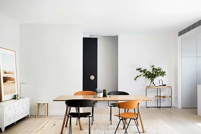 thiết kế nội thất sử dụng gam màu trung tính