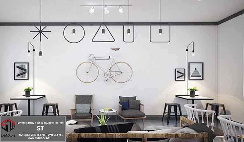 thiết kế quán trà sữa diện tích hẹp