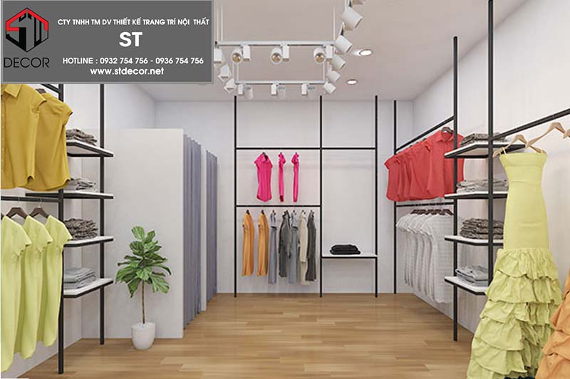 thiết kế shop thời trang 15m2