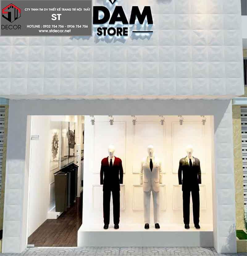 thiết kế shop quần áo 15m2 sang trọng