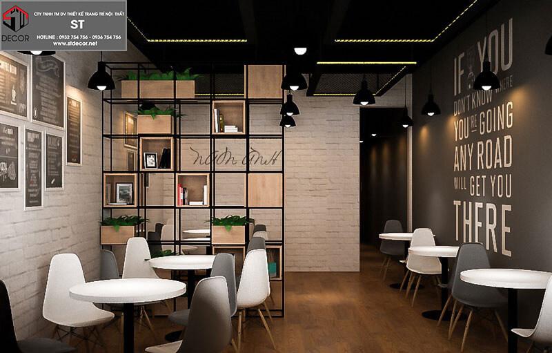 thiết kế kế quán trà sữa ăn vặt