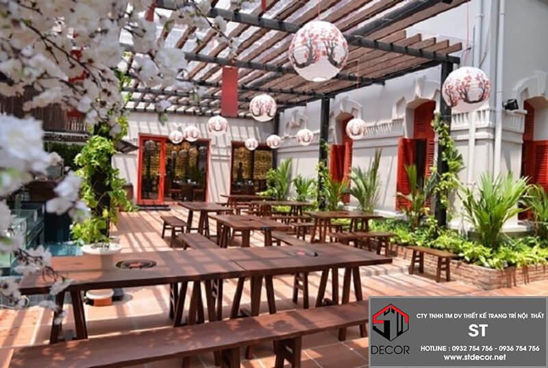 thiết kế nhà hàng 100m2