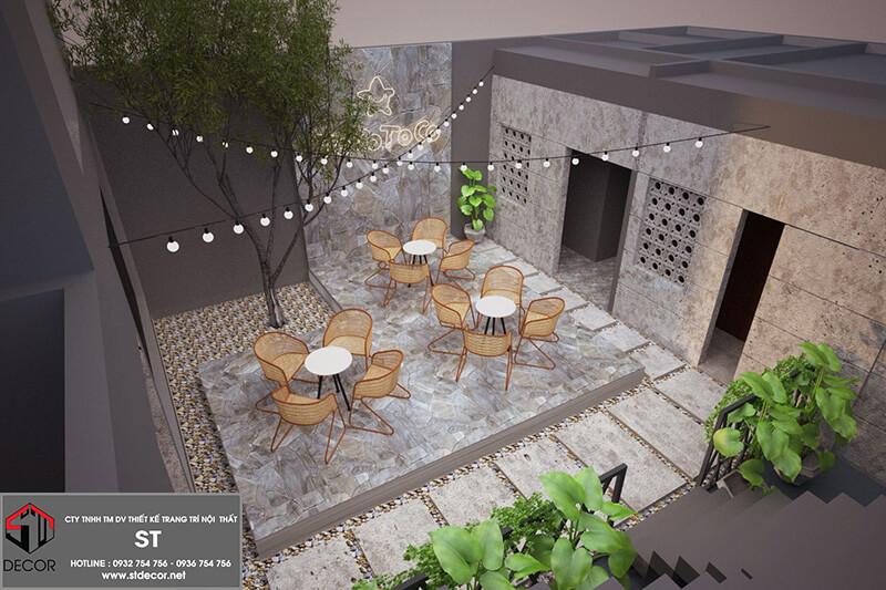 Bản vẽ thiết kế quán trà sữa