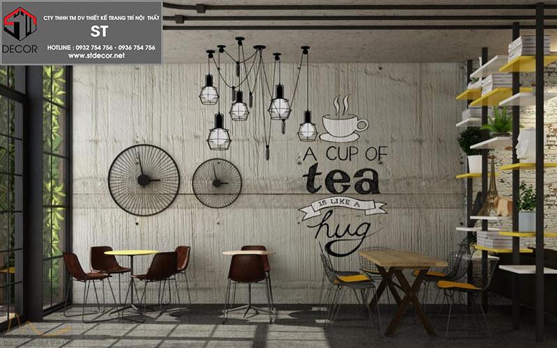 Các mẫu thiết kế quán trà sữa
