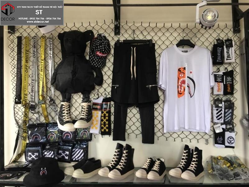 thiết kế shop thời trang unisex