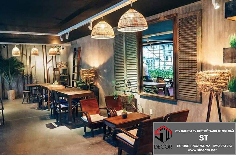 thiết kế quán cafe 150m2