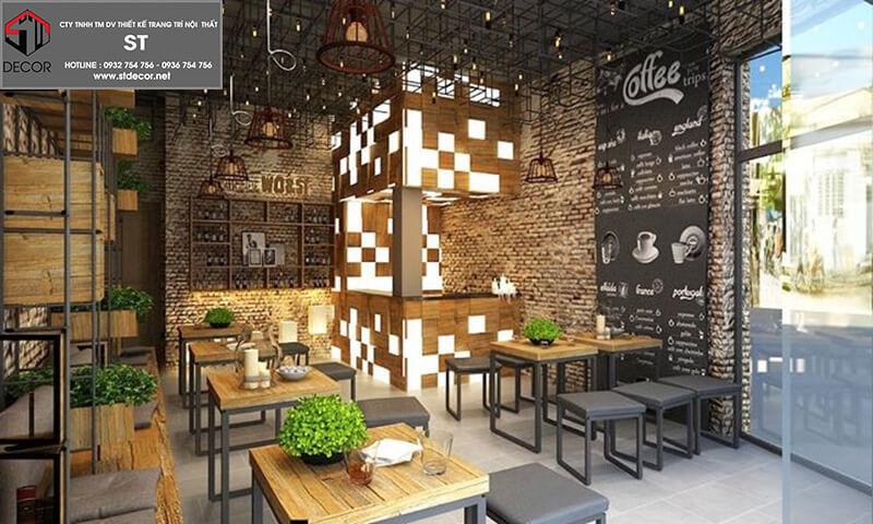 Thiết kế quán cà phê đơn giản đẹp