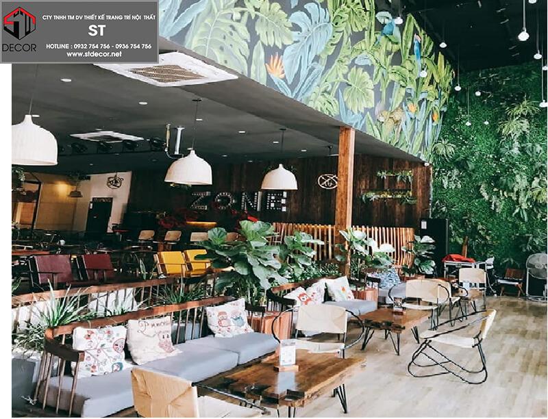 Thiết kế quán cà phê vỉa hè