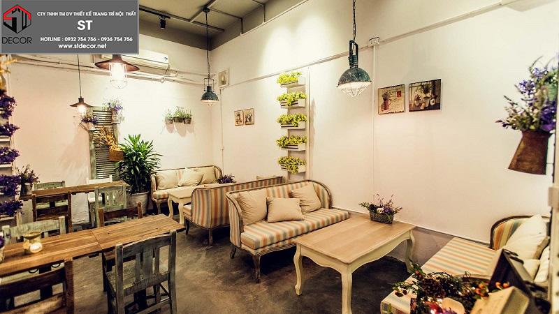 Thiết kế quán trà sữa bình dân