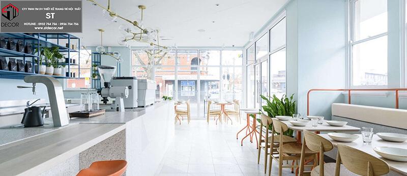 Thiết kế quán trà sữa đơn giản đẹp