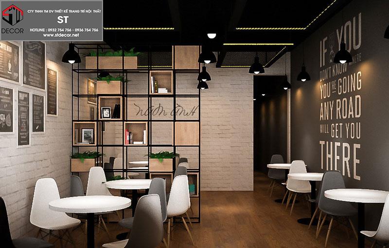 thiết kế quán trà sữa 30m2