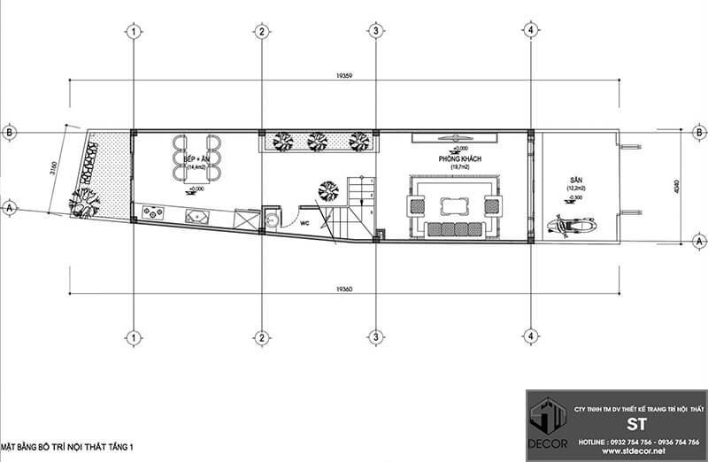 mẫu thiết kế nhà 3 tầng 3x10m