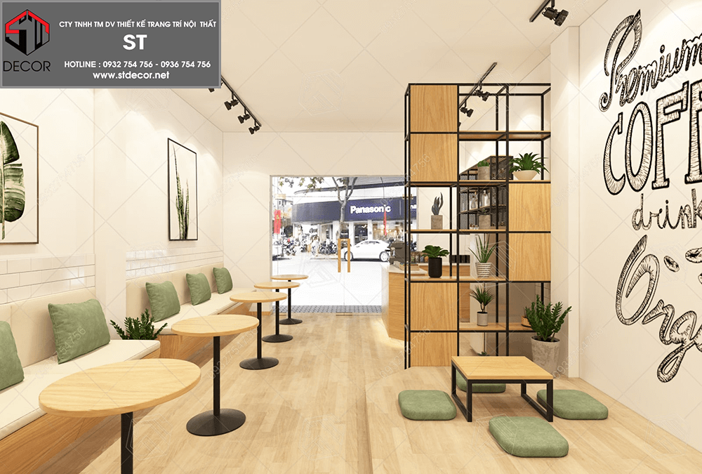 kinh nghiệm thiết kế quán trà sữa hiện đại