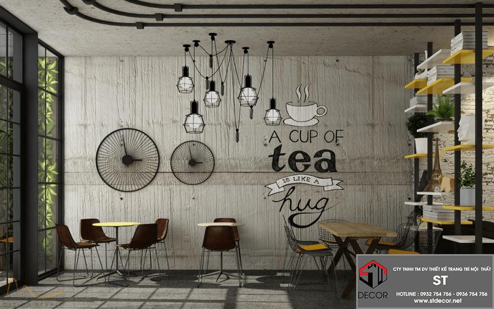 Chi phí thiết kế quán trà sữa