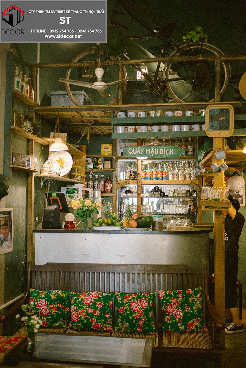 thiết kế quán trà sữa độc