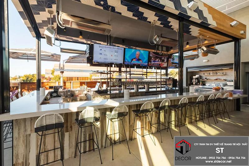 Thiết kế nhà hàng bằng khung thép