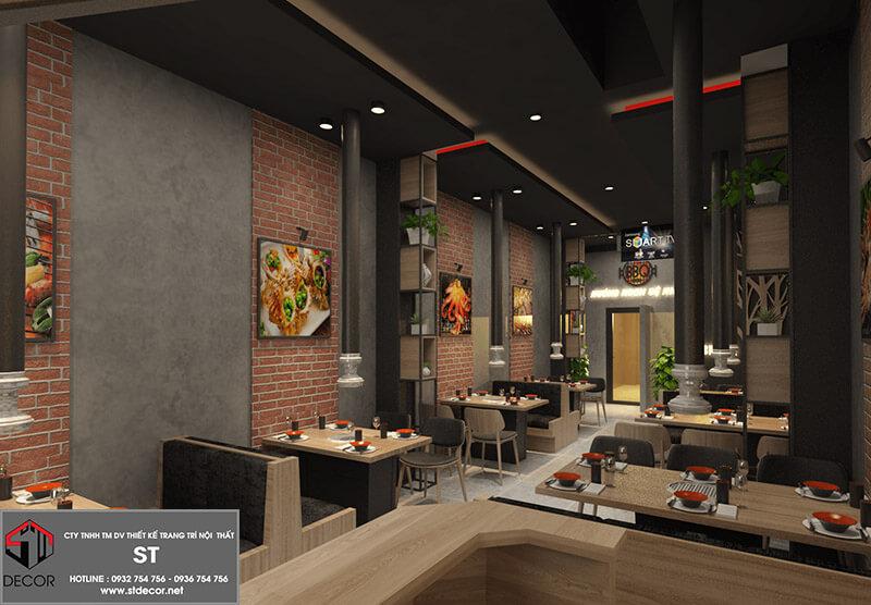 bản vẽ thiết kế nhà hàng ăn uống