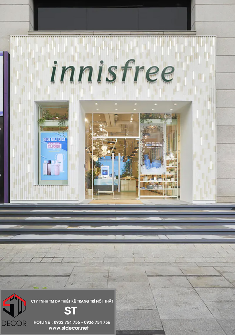 các mẫu thiết kế cửa hàng mỹ phẩm