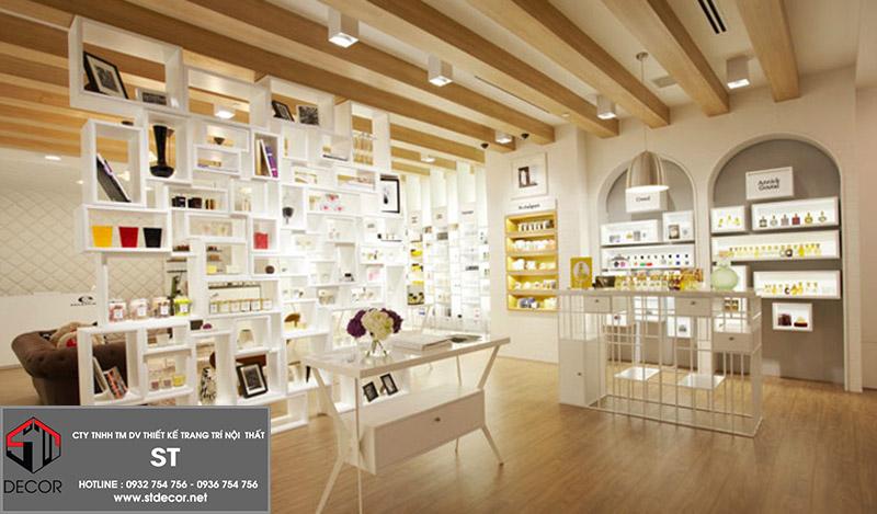 các mẫu thiết kế shop mỹ phẩm