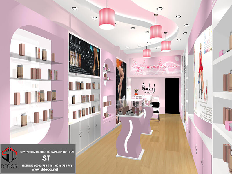 Ý tưởng thiết kế cửa hàng mỹ phẩm