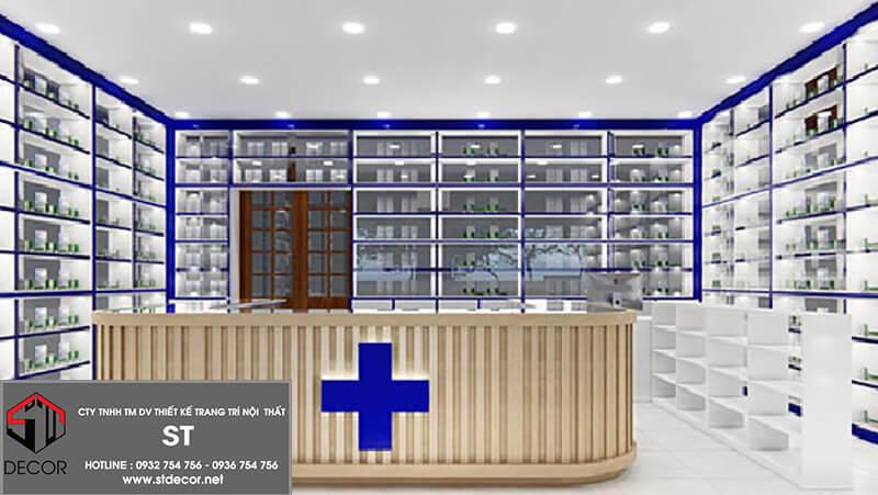 Thiết kế nội thất nhà thuốc đẹp